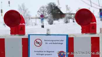 Wintersportgebiete sperren erneut Pisten und Parkplätze - Süddeutsche Zeitung