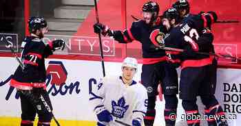 Ottawa Senators, in season opener, defeat Toronto Maple Leafs 5-3