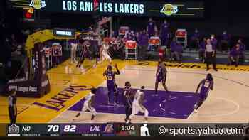 JJ Redick with a buzzer beater vs the Los Angeles Lakers