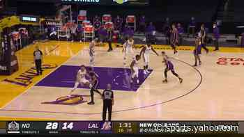 Eric Bledsoe with a block vs the Los Angeles Lakers