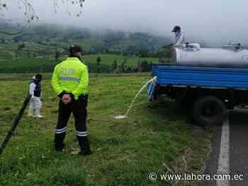 Se realizan controles de leche cruda en Píllaro - La Hora (Ecuador)