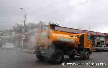 Municipio de Píllaro inició con la fumigación de los espacios públicos de la ciudad - El Comercio (Ecuador)