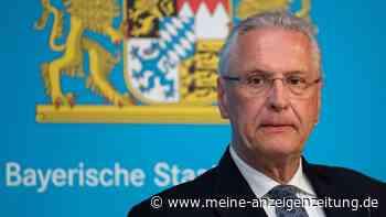 """Mitten im Corona-Lockdown: Polizeifeier mit Innenminister Herrmann sorgt für Aufsehen - """"Das darf nicht sein"""""""