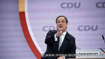 CDU-Vorsitz: Laschet setzt in Rede alles auf eine Karte - dann tritt er neben das Pult und nennt Hauptbotschaft
