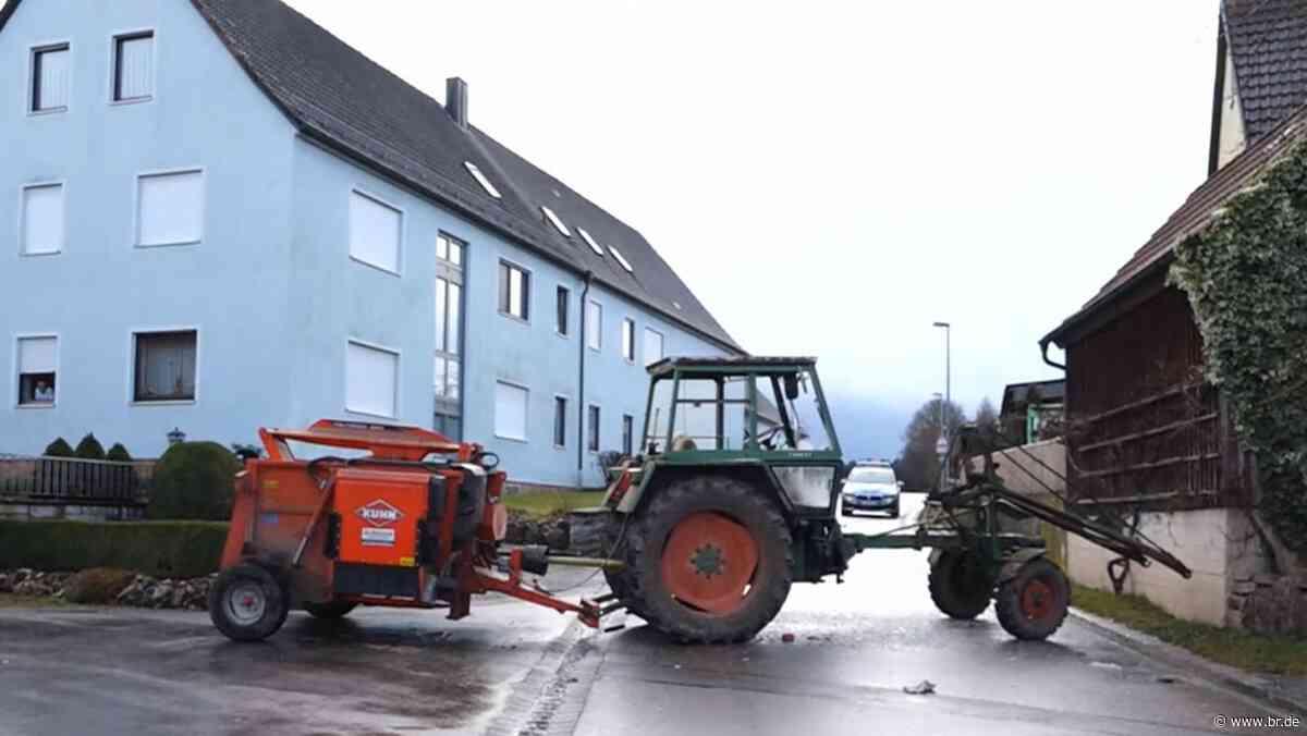 Angriff auf Eltern, Flucht mit Traktor: Prozessbeginn in Ansbach - BR24
