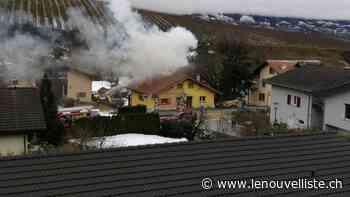 Champlan: début d'incendie dans un bâtiment du village - Le Nouvelliste