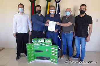 Prefeitura de Arroio do Tigre recebe câmeras de videomonitoramento da Cacisat - GAZ