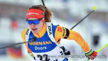 Biathlon in Oberhof jetzt im Liveticker: Janina Hettich geht auf Rang drei auf die Strecke