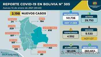 Bolivia registra 2.198 nuevos contagios; en Potosí los casos suben - Diario Pagina Siete