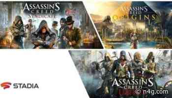 Assassin's Creed Titles Available For Mobile via Google Stadia