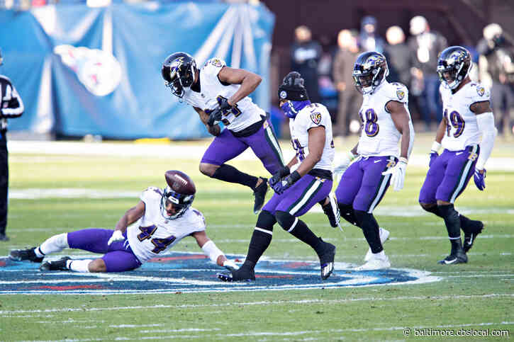 Reports: Ravens' Marcus Peters Fined $15K For Stomping On Titans Logo