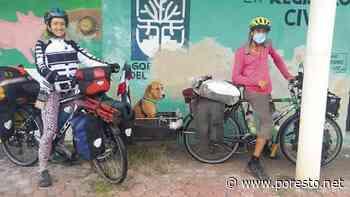 Pareja de ciclistas colombianos recorren Tixkokob - PorEsto