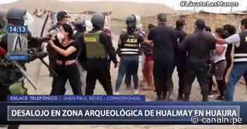 Huaura: PNP desaloja a personas que invadieron sitio arqueológico de Hualmay - Canal N