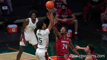 Louisville vs. Miami score: Shorthanded Hurricanes hand No. 16 Cardinals their first ACC loss