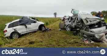 Cuatro muertos en choque frontal en Totoral - Cba24n