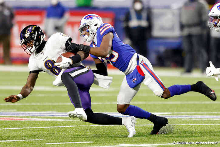 Ravens' Season Ends With Lamar Jackson In Locker Room, 17-3 Loss To Bills In AFC Divisional Round