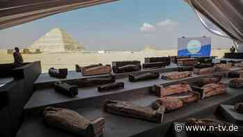 Totentempel für Königin Naert: 52 Sarkophage in Ägypten ausgegraben