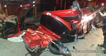 Un lesionado tras fuerte accidente en Antiguo Cuscatlán - Solo Noticias