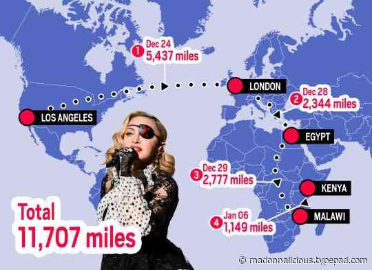 Madonna 'flies to four countries in three weeks despite coronavirus travel restrictions'
