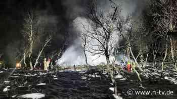 Polizei geht von Unglück aus: Drei Tote bei Brand in norwegischer Hütte