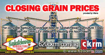 Closing grain prices Friday Jan 15 - 620 CKRM.com