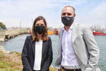 Guzmán y Raverta visitaron el Puerto de Mar del Plata y anunciaron obras de ampliación - Argentina.gob.ar Presidencia de la Nación