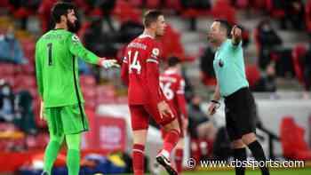 Liverpool vs. Manchester United: Jordan Henderson explains frustration with 'very strange' halftime whistle