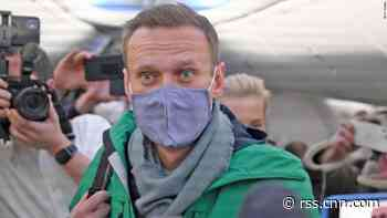 Alexey Navalny arrested on his return to Moscow
