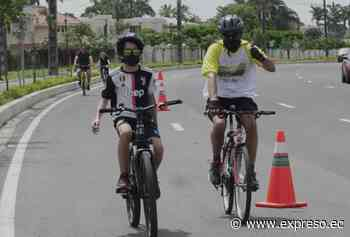 Ciclistas recorrieron 16 kilómetros de la avenida Samborondón - expreso.ec