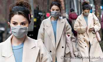 Selena Gomez rocks a perky ponytail on the NYC set of Hulu's Only Murders in the Buildings