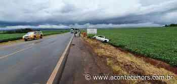 Motorista fica ferido em saída de pista na ERS 332, entre Espumoso e Tapera - Acontece no RS