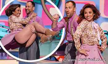 Myleene Klass wows in Dancing On Ice's group number