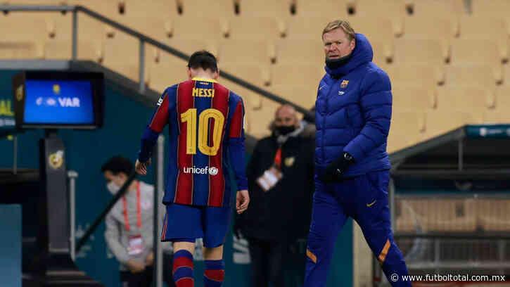 Video: Messi, expulsado por primera vez en un partido oficial con Barcelona