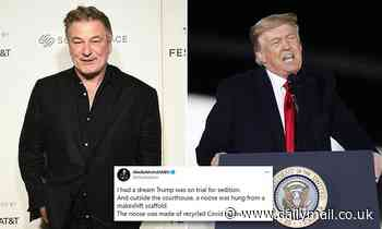 Alec Baldwin reveals he dreamed Donald Trump was was on trial for sedition