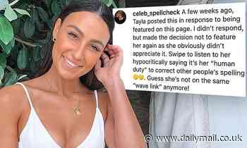 Love Island's Tayla Damir complains about people with bad spelling
