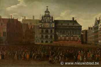 Schilderij dat restauraties Antwerpse Grote Markt mogelijk maakt zelf gerestaureerd