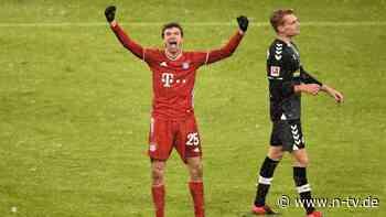 """Der FC Bayern redet sich stark: Nächste Rekordshow von Müller und """"Lewy"""""""