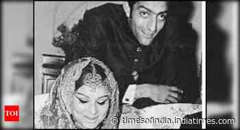Sharmila-Mansoor's throwback wedding pics