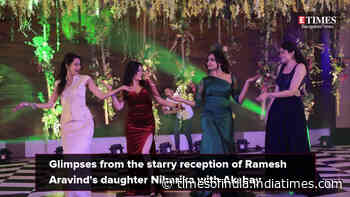 Watch: Sudeep, Yash dance at Ramesh Aravind's daughter Niharika's reception party