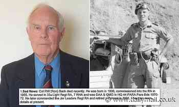 Retired Colonel, 84, 'rather amused' by 'sad news' of his OWN death in Army newsletter