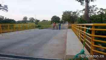 En funcionamiento puente vehicular que conecta a Ayapel con La Apartada - LA RAZÓN.CO