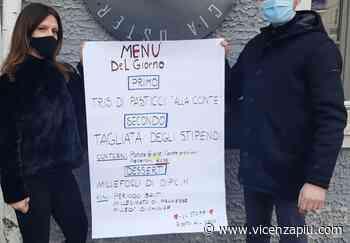 """Covid, protesta pacifica bar e ristoranti: alla Vecia Osteria dal Menga a Torrebelvicino si mangia la """"tagliata degli stipendi"""" - Vicenza Più"""