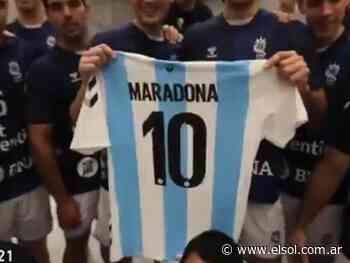 Video: los Gladiadores recordaron a Maradona tras el triunfo ante Bahrein - Diario El Sol Mendoza