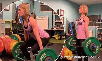 Rosamund Pike deadlifts 100lbs while preparing for new film I Care a Lot in throwback video