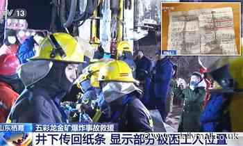 China mine explosion: 12 workers trapped in gold mine for seven days are still alive