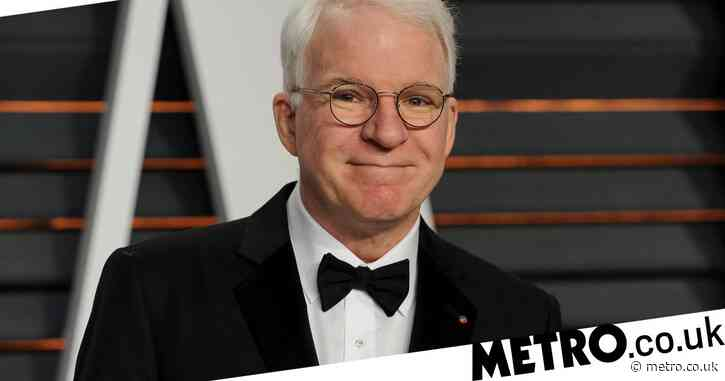 Steve Martin receives Covid-19 vaccination – and throws in joke about 'side effects'