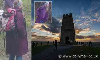 Police hunt bearded 'Covid-rule breaker' in long purple coat after 30 people went to Glastonbury Tor