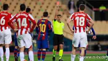 Erstes Rot im 753. Spiel: Selbst für Messi gibt es noch Premieren