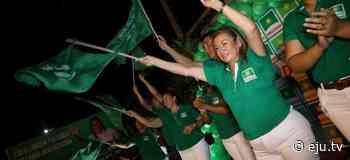 María Arias, candidata a la Alcaldía de Portachuelo por Demócratas - eju.tv