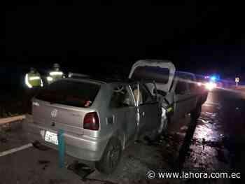 Dos heridos en la vía Ambato-Guaranda - La Hora (Ecuador)